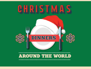 Christmas dinners around the world topper