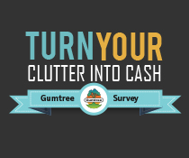 Turn your clutter into cash with Gumtree