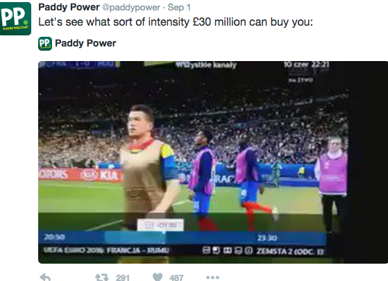 paddy power offensive